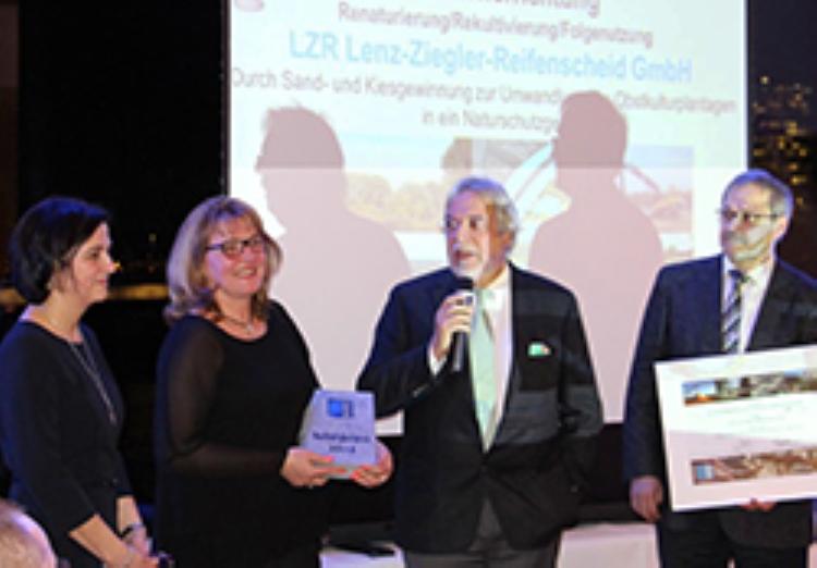 1.Platz des Nachhaltigkeitspreises 2016 der Deutschen Gesteinsindustrie